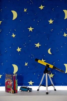 Stargazer Blue Roller Blind