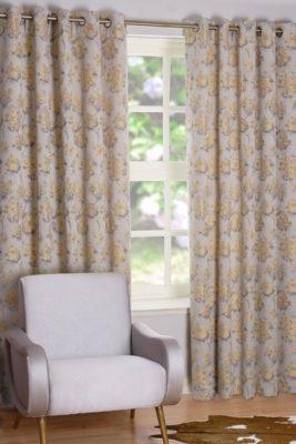 SLX Readymade Curtain – Bloom Saffron