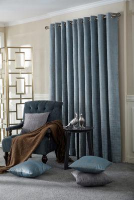 SLX Readymade Curtain – Marble Azure